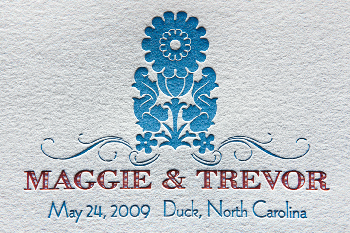 Letterpress Wedding Ceremony Program (detail)
