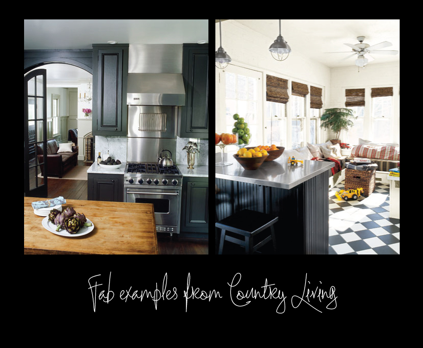 Country Living Black Kitchens