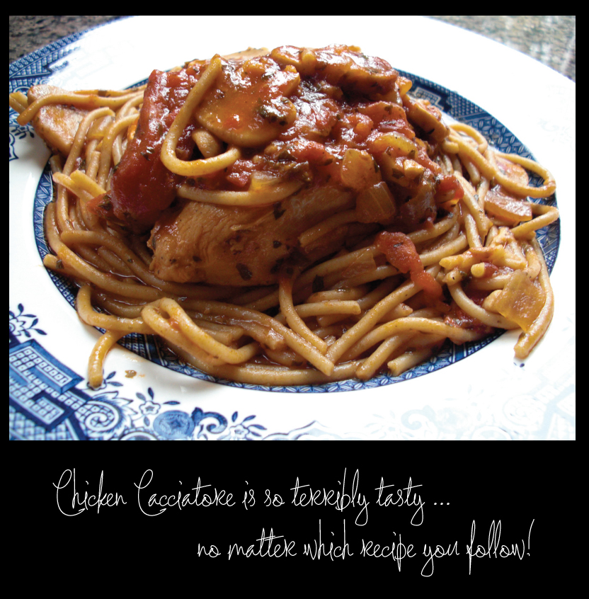 Chicken Cacciatore is FAB no matter how you prepare it!