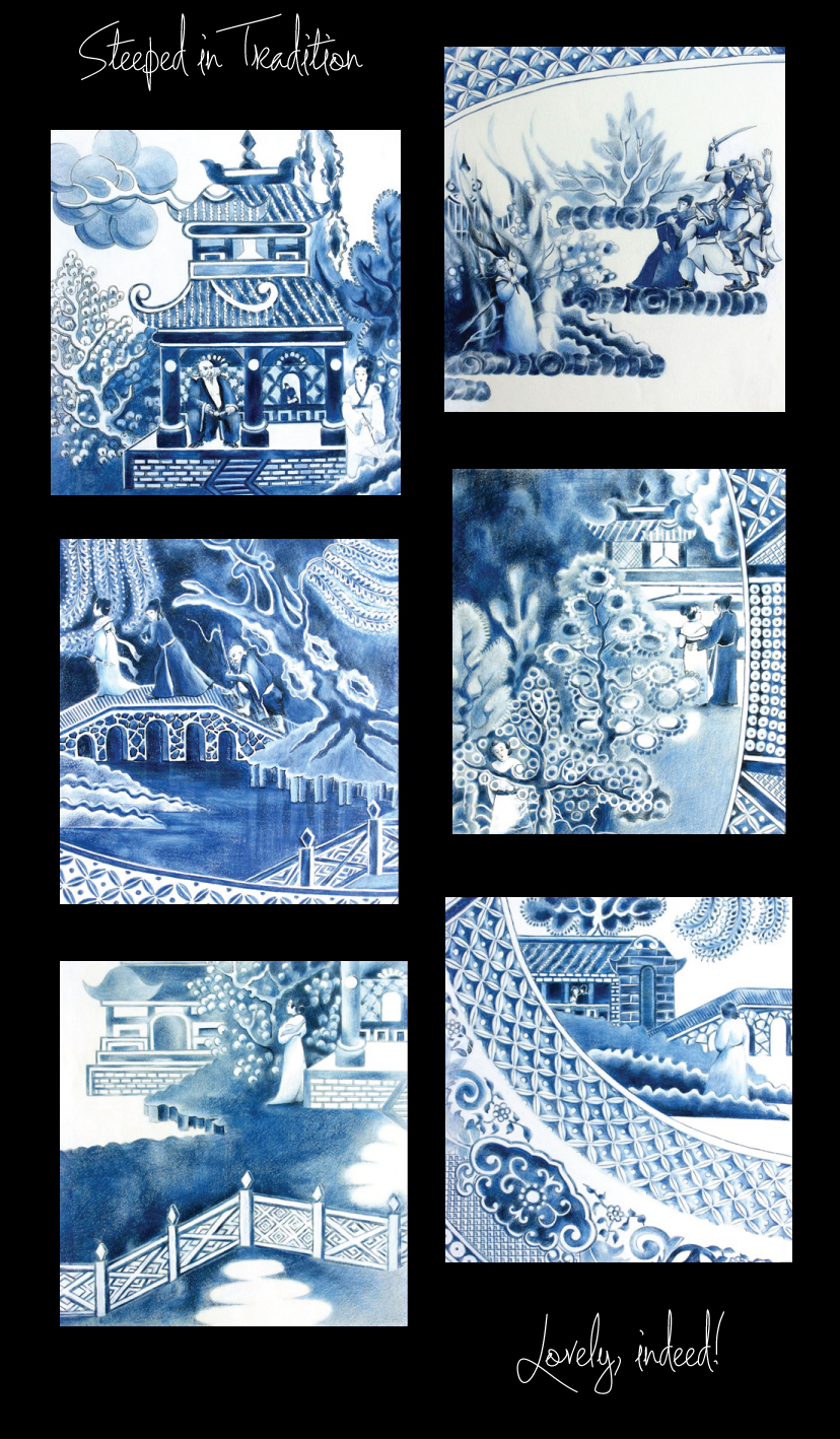 Blue Willow Pattern via Craft Unbound
