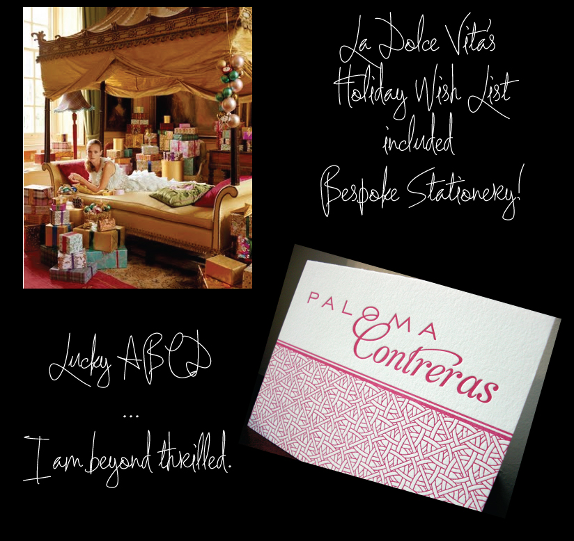 LaDolce Vita Holiday Wish List includes Bespoke Stationery!