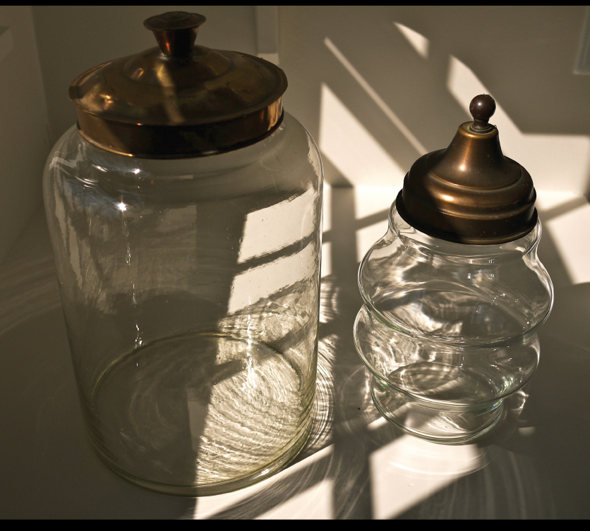 19-century-english-glass-canisters-with-metal-lids