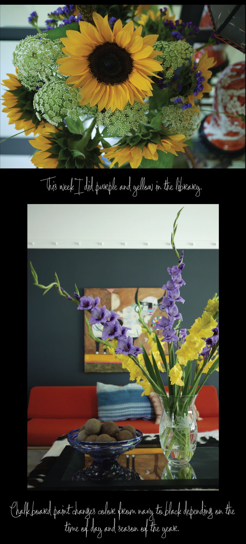 Chalk-Board-Paint-Sunflowers-and-Gladiolus
