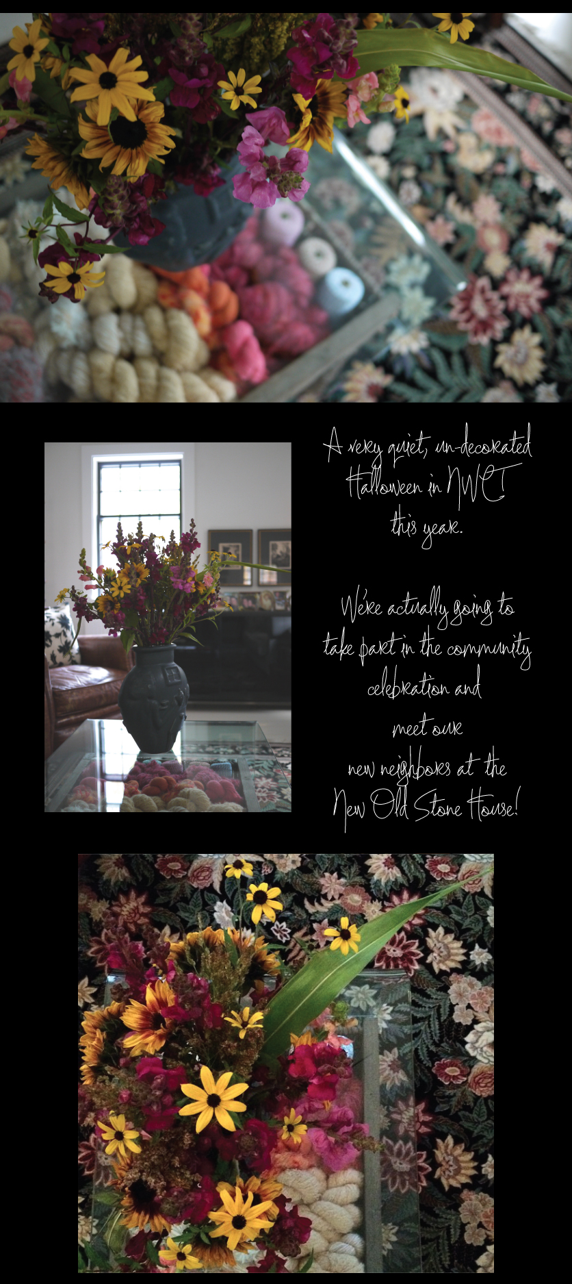 Halloween-Flowers-in-the-fireplace-room