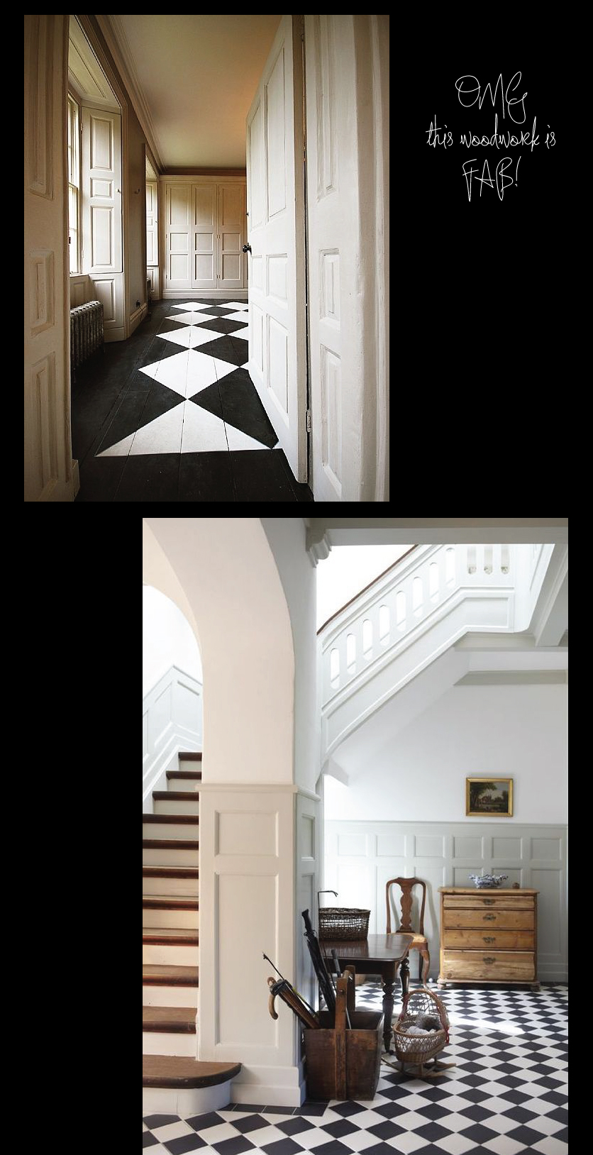 Detailed-Wood-Work-and-Black-and-White-Floors