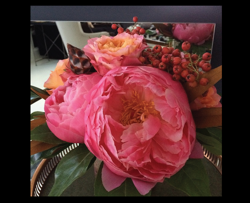 Hand-tied-peony-flower-arrangement
