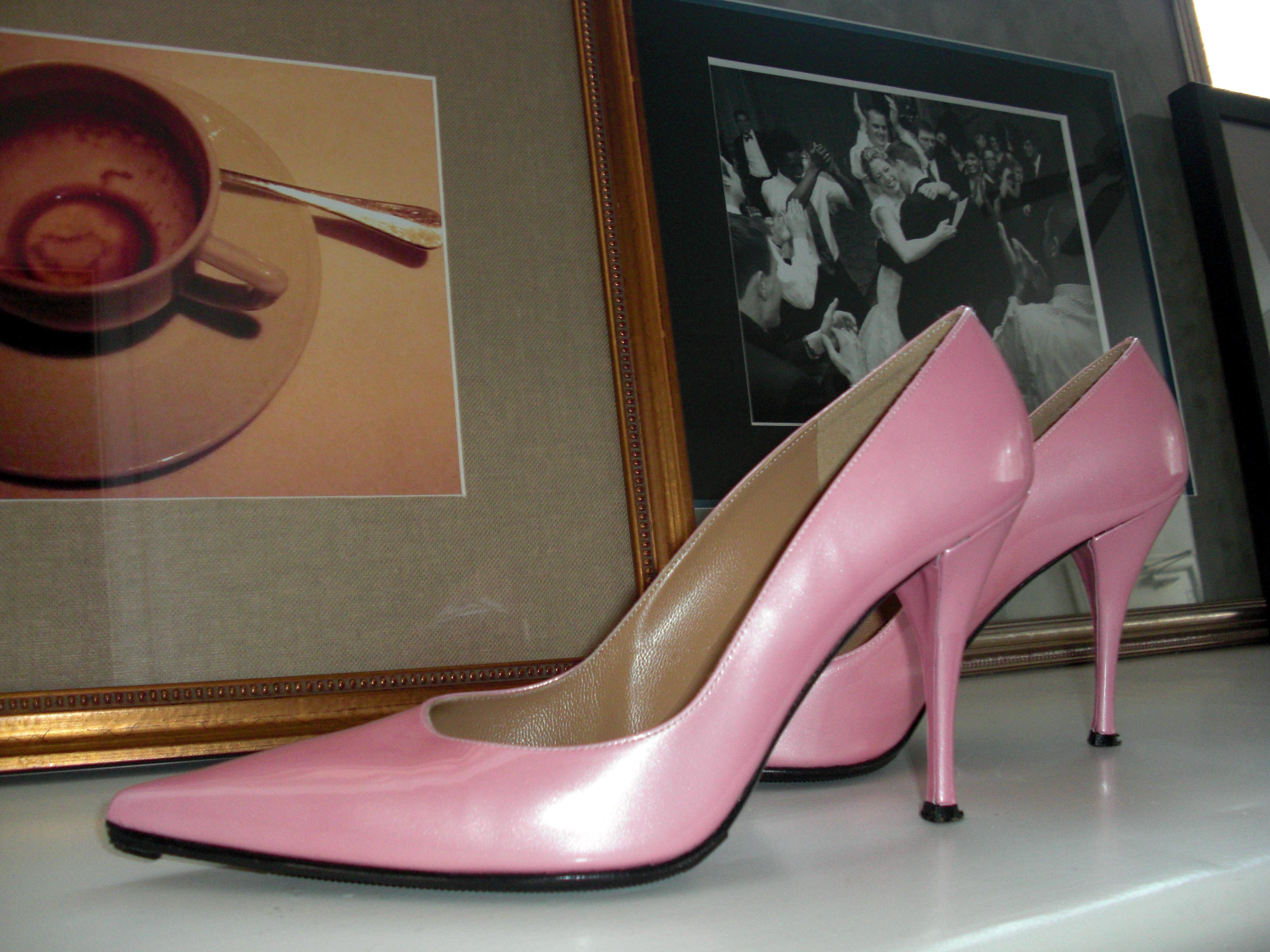 """Pink """"Girlie"""" Pumps For Sale"""