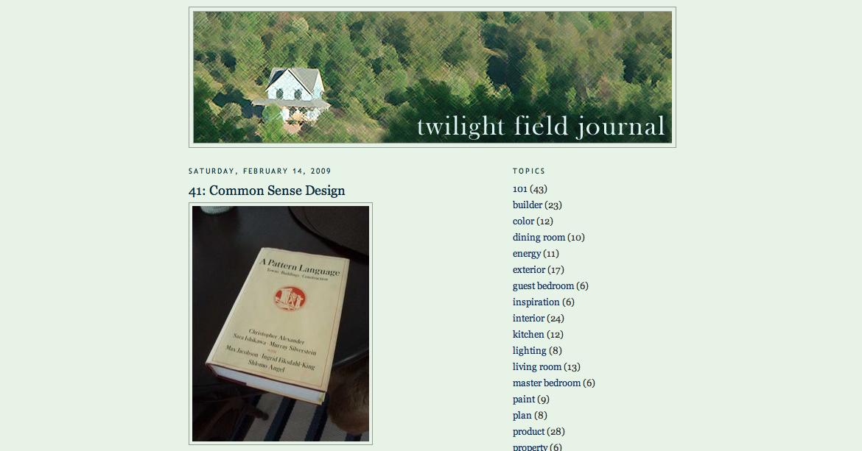 Twilight Field Journal