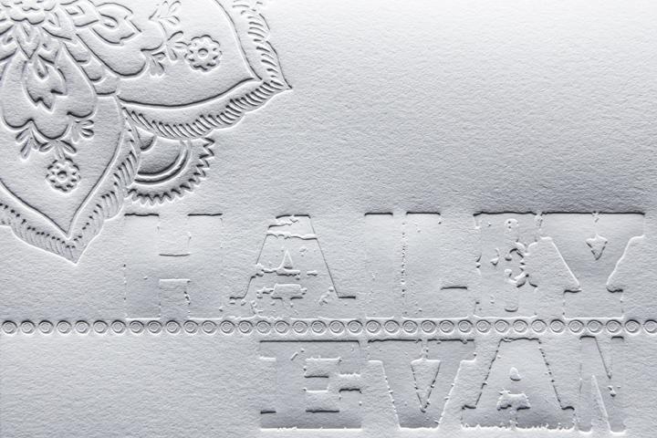 Detail Blind Letterpress