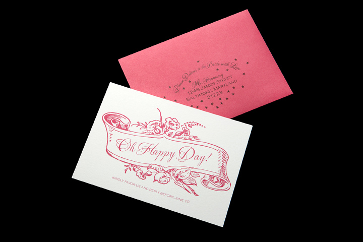 RSVP Card and Reply Envelope