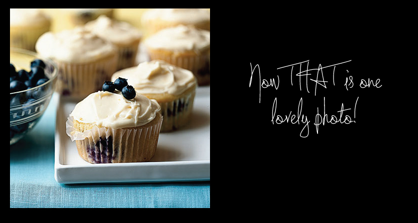 Lemon Scented Blueberry Cupcakes