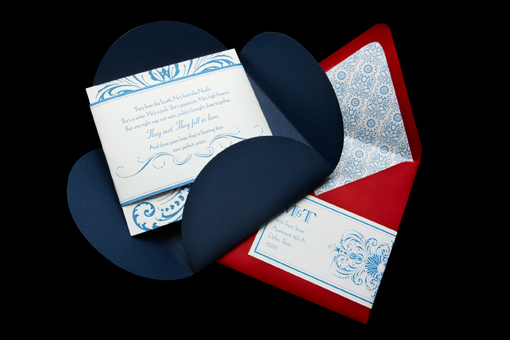 Belly Band, Wedding Invitation, Pouchette, Lined Outer Envelope