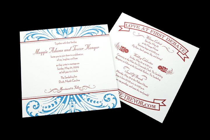 Wedding Invitation, Weekend Festivity Card