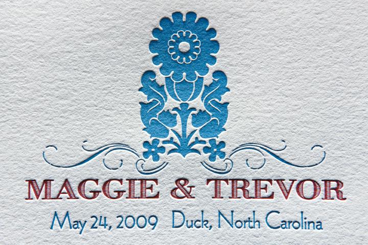 Letterpress Wedding Ceremony Program (detail)