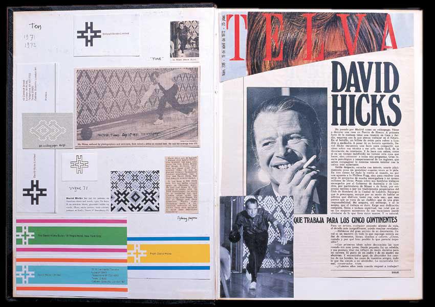 Scrapbook of David Hicks