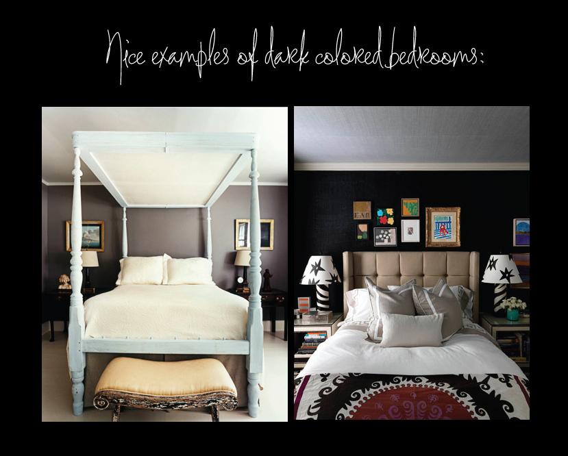 Handsome Dark Bedrooms