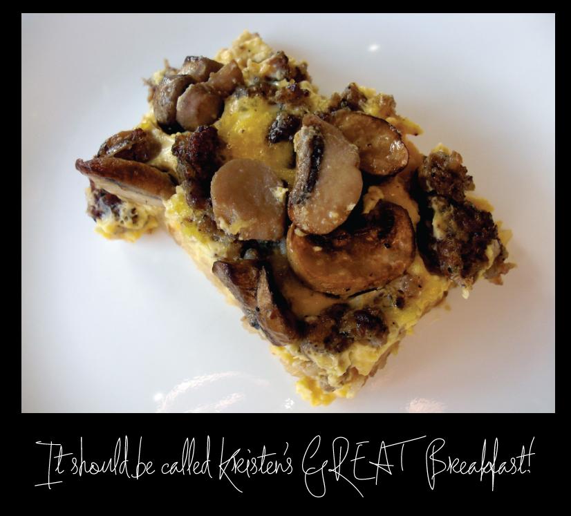 """Kristens """"GREAT"""" Breakfast"""