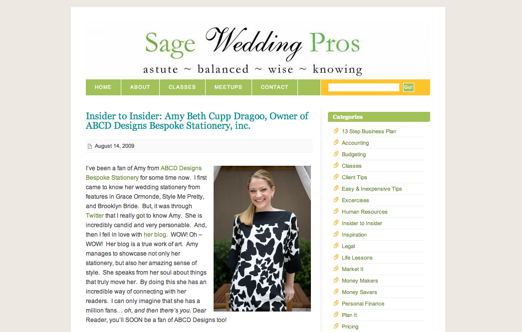 ABCD Featured on Sage Wedding Pros