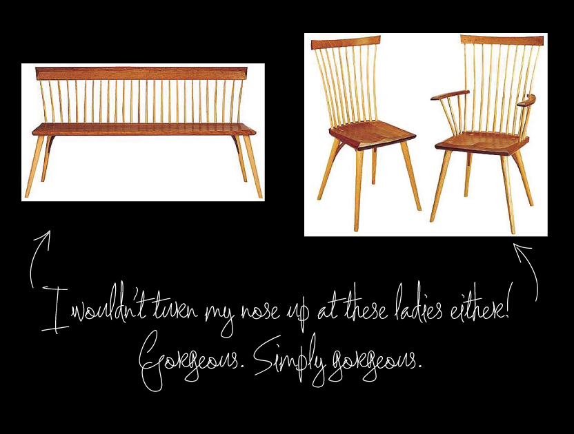 Thos Moser Bench and Chairs