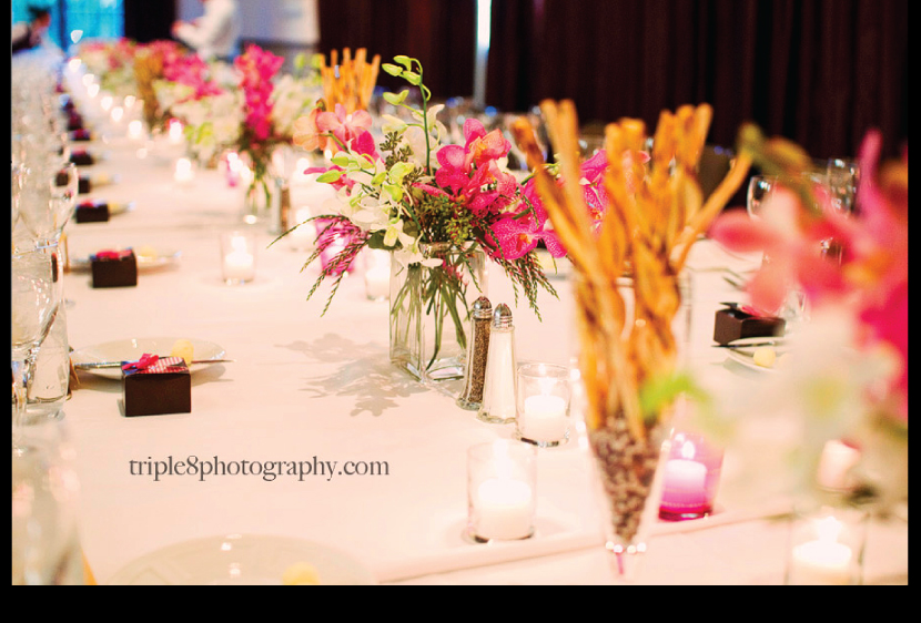 Wedding Reception Flowers {triple8photography}