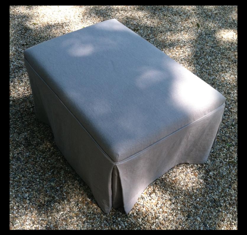 slip-covered-ottoman