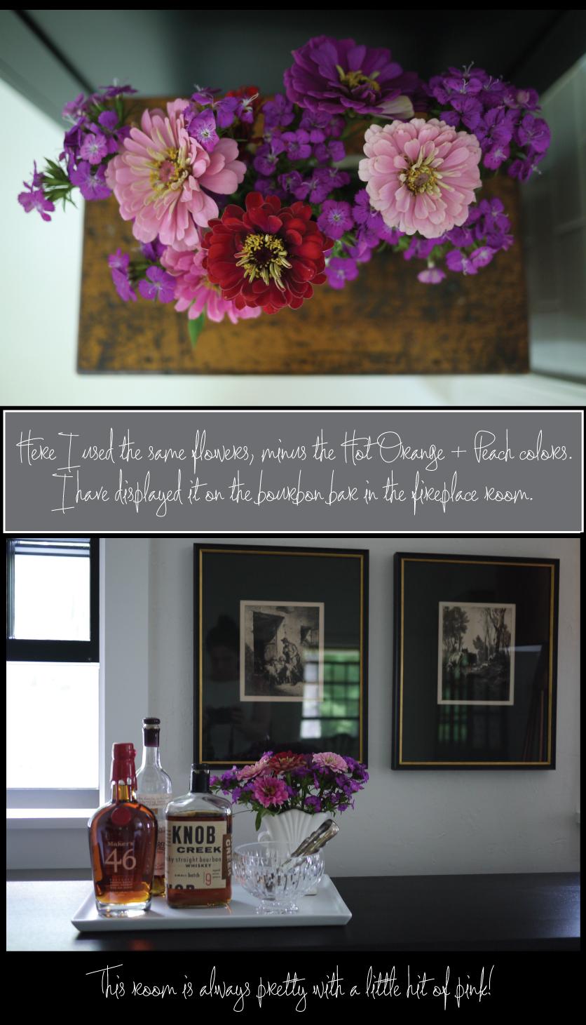 Zinnia-flowers-on-the-bourbon-bar
