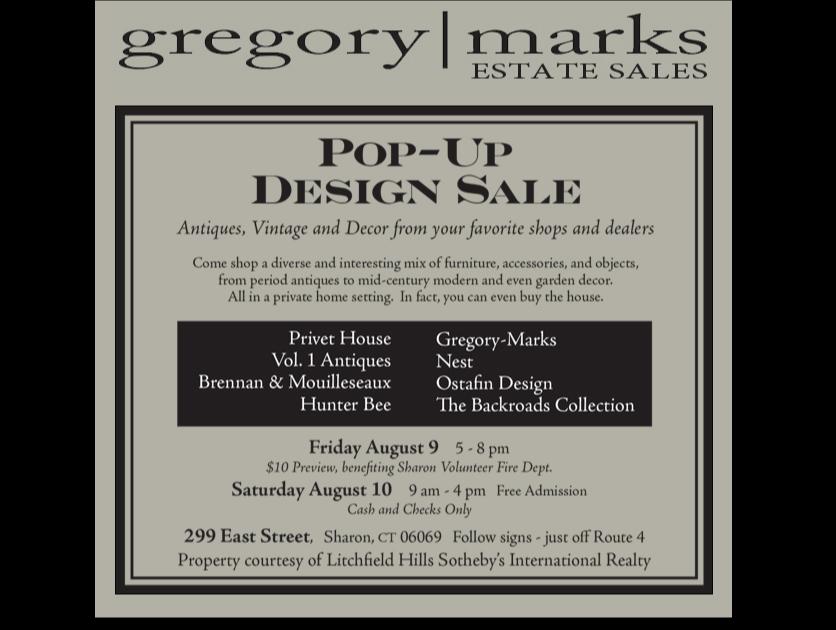 Gregory-Marks-Estate-Sale-Decorator-Sale-including Privet House, Hunter Bee, Vol. 1 Antiques, Brennan & Mouilleseaux, Nest, Ostafin Design, The Backroads Collection