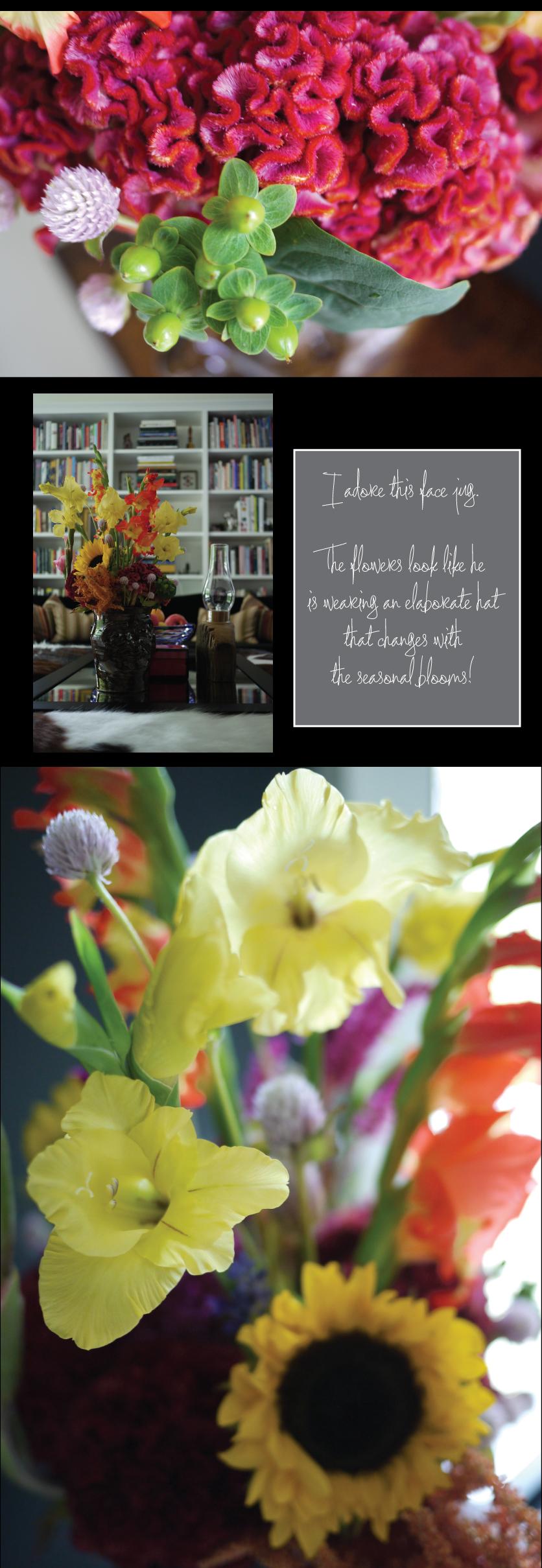 Fall-Flower-Arrangement-in-a-Face-Jug