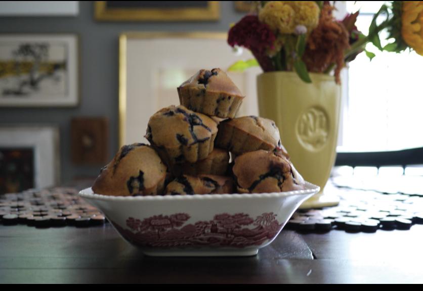 Whole-Wheat-Blueberry-Muffins