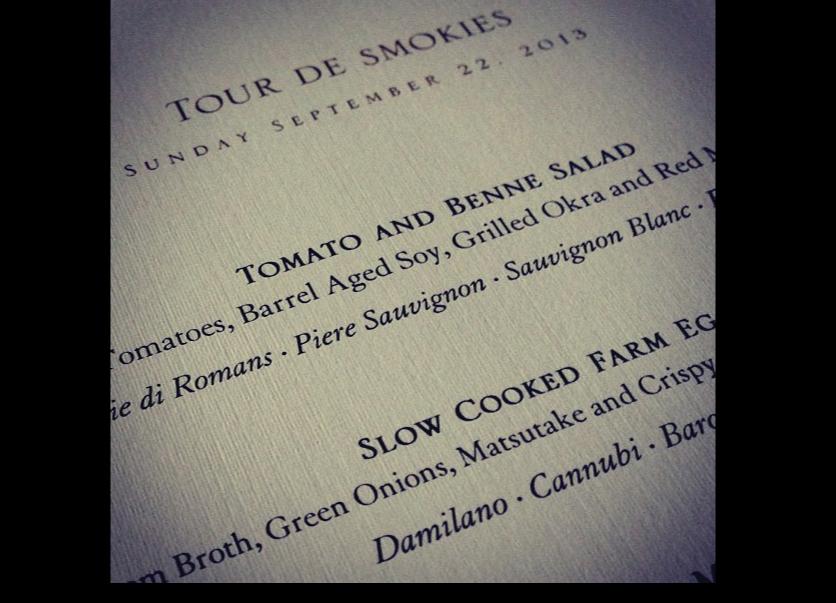 food-and-wine-at-tour-de-smokies