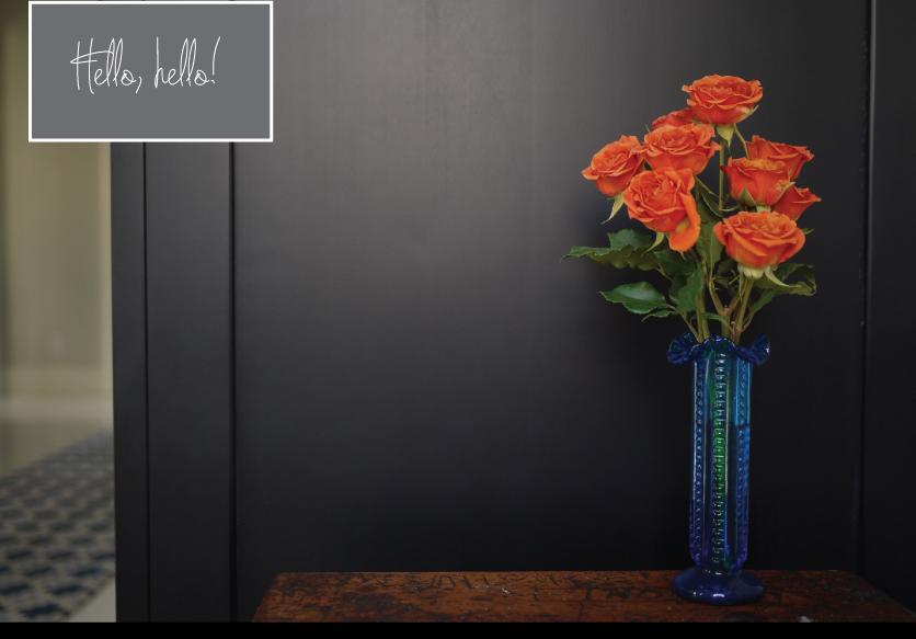 Hobnail-Bud-Vase-Vintage-Stool-Black-Kitchen-Cabinets
