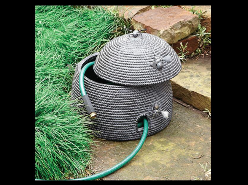 Beehive-Garden-Hose-Pot