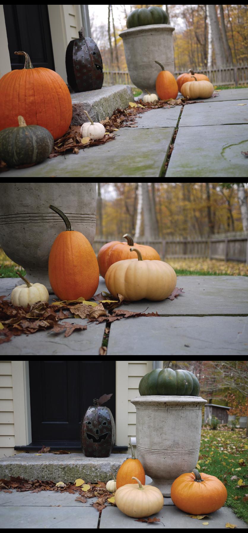 Halloween-Pumpkins-at-the-Front-Door